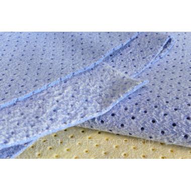 Замша KOREA | Chamude® перфорированная синяя 50*40